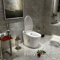 Smart Toilet Bidet with Heated Seat Auto Flush & Massage Washing Remote Control