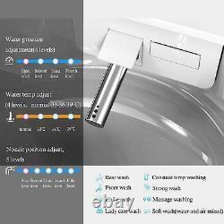 Smart Toilet, Massage Washing, Auto Flush Heated Seat Remote Control Smart Bidet