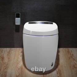 Smart White Toilet 1.27 GPF Floor Mount Elongated One-PieceToilet & Bidet Seat