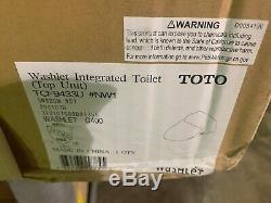 TOTO Cotton White Intergrated Bidet Toilet Washlet Top-Unit G400 SN920M#01