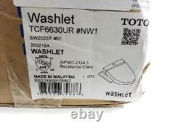 TOTO SW2033R#01 C100 Electronic Bidet Toilet Round, Cotton White, OPEN BOX