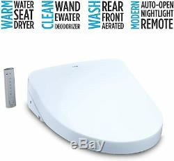 TOTO SW3056#01 S550E Electronic Bidet Toilet Seat with Cleansing Warm Nightlight