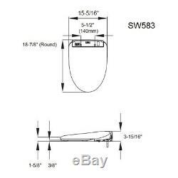 TOTO SW583-01 Washlet S350E Round Bidet Toilet Seat with ewater+, Cotton White