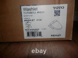 TOTO Washlet A100 Elongated Bidet Toilet Seat, White SW2014#01