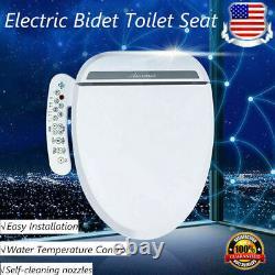 Toilet Seat Electric Smart Auto Bidet Elongated Deodorization Heated Twin Nozzle