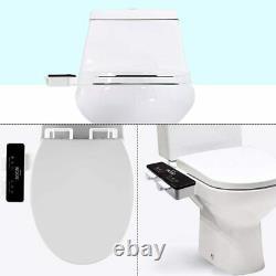 Toilet Seat Ultra Thin Non-Electric Mechanical Bidet Attachment Dual Nozzle Slim