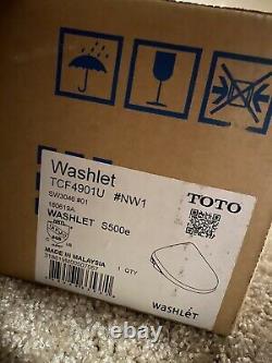 Toto S500E Bidet Seat Elongated E Water Premist Cotton White