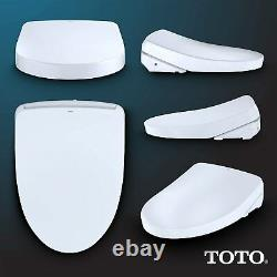 Toto SW3056AT40#01 S550E Washlet Elongated Electronic Bidet Seat with Remote, Wh