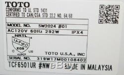 Toto Washlet Easy Install Electronic Elongated Bidet Toilet Seat, New Open-Box