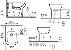 Vitra S20 Back To Wall Floor Mounted Bidet Contemporary Gloss Bathroom Cloakroom