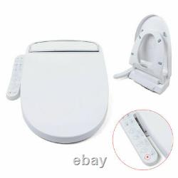 White Advanced Smart Electric Bidet Elongated Heated Toilet Seat with Warm Air usa