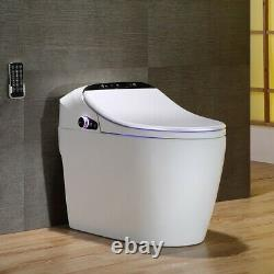 White Smart One-Piece 1.27 GPF Floor Mounted Elongated Toilet and Bidet & Seat
